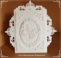 Elly's Card- Corner: Totally white