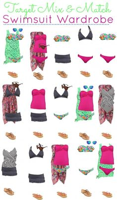 Target Mix and Match Swimwear Style Fashion Board collection makes it easy for women to get an idea on how to design their own diy wardrobes.