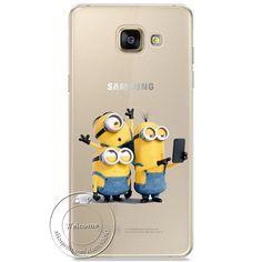 Minions Kiss Hard Case For Samsung Galaxy A310 A510 A710 J110 J510 J710 A3 A5 A7 J1 J5 J7 2016