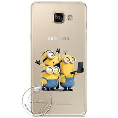 Minions Kiss Hard Case For Samsung Galaxy A310 A510 A710 J110 J510 J710 A3 A5 A7 J1 J5 J7 2016