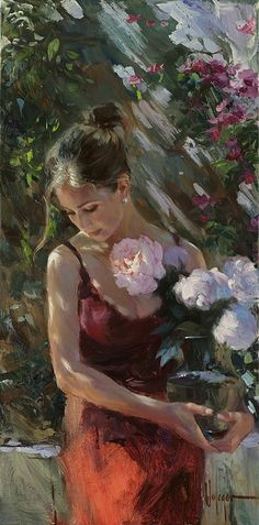'Lady With Flowers'