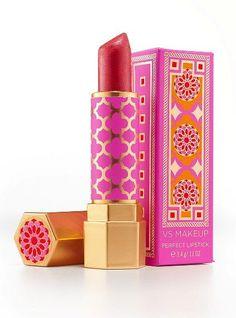 Victoria's Secret lipstick. Gorgeous pink patterned packaging PD #LipstickColors