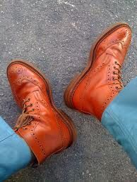 Trickers brown brogue boots