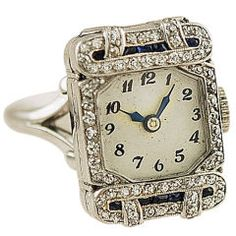 Vintage watch ring! Oh my goodness! I would wear this everyday!! Unless something I had on had a gold chain or something, because I HATE mixing gold with silver! Lol