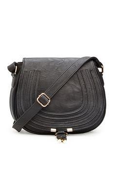 Classic Saddlebag Purse in Black