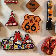 Route 66 and the magnets on my refrigerator.
