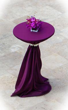 Cocktail Table + Violet Bengaline Linen