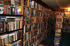 The Man With 59,000 Books -- In His House. A small portion of the stacks in the basement (PHOTO: Mary Winchester)