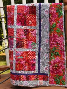 I have to like this Kaffe Fassett quilt because I made it.