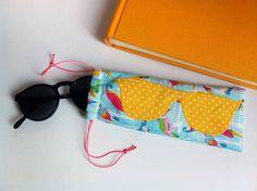 Brillenbeutel mit Applikation - Schnittmuster und Nähanleitung via Makerist.de