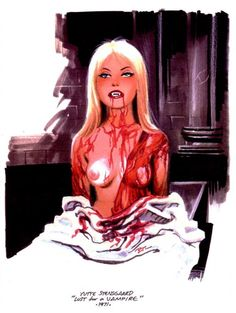 Lust For A Vampire's Yutte Stensgaard illustrated by Bruce Timm