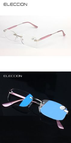 ELECCION Fashion Rimless Frames Eyewear Readers - Comfortable Stylish Simple Reading Glasses Rx Magnification Unisex