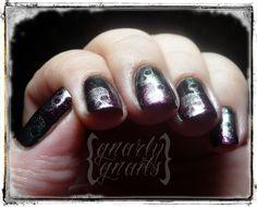 Adventures in Stamping - Goth Party Skulls!  http://gnarlygnails.blogspot.com/