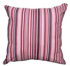 Striped  Pink Pillow Covers Decorator Pillow by AnyarwotDesigns, $16.00