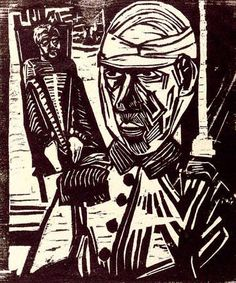 The Two Wounded Men, 1915, Erich Heckel  Art and Opinion
