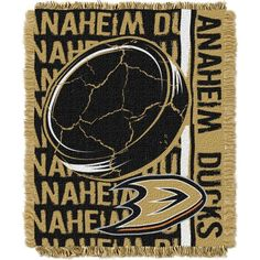 Northwest Anaheim Ducks Double Play 48 in x 60 in Jacquard Woven Throw Blanket, Team
