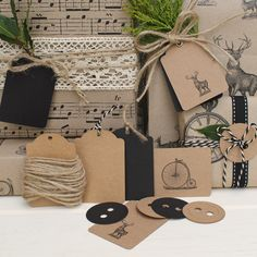 Vintage Style Gift Wrapping Set