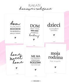 Domowe i rodzinne plakaty do druku - 6 nowych wzorów Bullet Journal, Cards Against Humanity, Diy, Printables, Posters, House, Ideas, Bricolage, Home