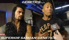 amazing @wweromanreigns and the rock