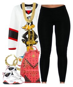 """""""Untitled #1370"""" by lulu-foreva ❤ liked on Polyvore featuring Moschino, MCM and NIKE"""