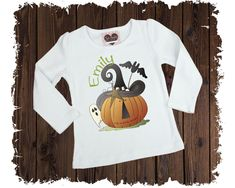Halloween Witch Pumpkin Personalized Custom Printed T-Shirt - Available in Long or Short Sleeves Boutique Shirts, First Halloween, Size Chart, Witch, Short Sleeves, Pumpkin, Printed, Cotton, Mens Tops
