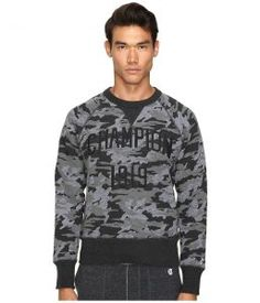 Todd Snyder + Champion Camo Print Sweatshirt (Faded Black) Men's Sweatshirt