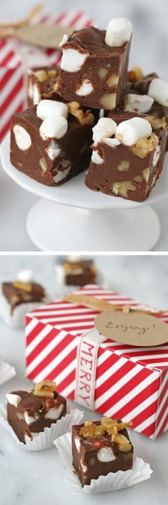 Rich, creamy and delicious Rocky Road Fudge recipe!