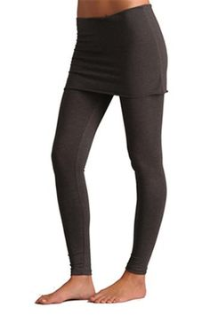 The Kosa Yoga Legging in Charcoal by Anjali. Made from yummy Cotton & Lycra, the Kosa leggings are a versatile friend that you will reach for again and again. The wide waist band folds down as a skirt or can be scrunched up during practice. No side seam construction creates a sleek silhouette that works in the studio or out on the town. $64.95 at www.karmicfit.com #yoga #yogaleggings