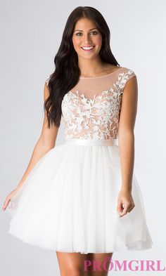 Prom Dresses, Celebrity Dresses, Sexy Evening Gowns - PromGirl: Scoop Neck Sherri Hill Dress