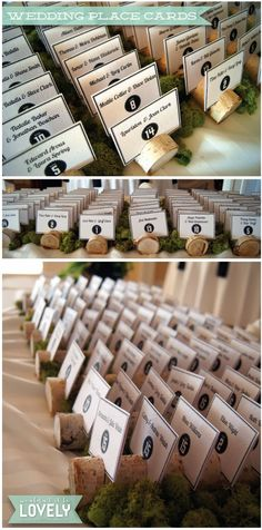 Custom designed birch place card holders, escort cards, rustic wedding decor, wedding, event design, custom weddings, place cards, Wouldn't it be Lovely