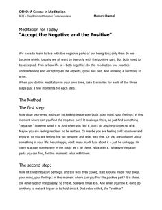 A Course in Meditation,  day 4, page 1/2