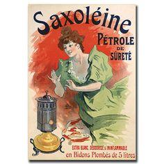 Trademark Art 'Saxoleine Petrole de Surete' by Jules Cheret Framed Vintage Advertisement on Wrapped Canvas Orange House, Green And Orange, Jules Cheret, Kerosene Heater, Orange Home Decor, Nature Scenes, Artist Canvas, World Cultures, Decoration