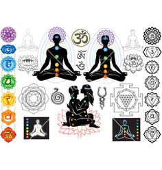°Chakras & esoteric symbols  |vector