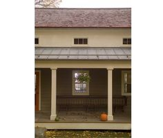 """article on standing seam metal roofs/can be partnered with shake or composite roofs/""""standing seam metal great for porches,which often have flatter pitches.the snow just slides right off"""" Asphalt Roof Shingles, Wood Shingles, Diy Roofing, Roofing Felt, Roofing Options, Roofing Materials, Standing Seam Roof, Fibreglass Roof, Porch Roof"""