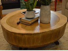 Mesa central de tronco