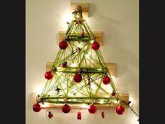 Árvore de Natal é feita com lã, enfeites e pisca-pisca   Artesanato & Humor de Mulher