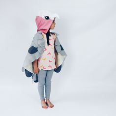 Sparrow and Bee cape with Minimnt Girl Tee