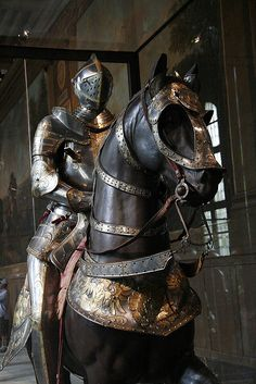 armored horse and rider by bobmorton, via Flickr