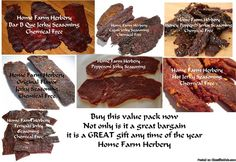 Value Pack of all 7 chemical free Jerky seasonings, Order now, FREE shipping & a Free gift - Classified Ad