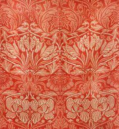 William Morris 'tulip & rose' 1876. #textiles, #design, #william_morris