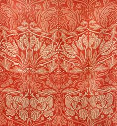 William Morris 'tulip & rose' 1876. #textiles, #design, #william_morris