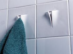 tile and towel hook in one: 'dtile' by dutch designers: peter van der jagt + erik jan kwakkel + arnout visser