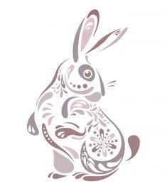 Abstract Bunny Illustration | TopVectors.com