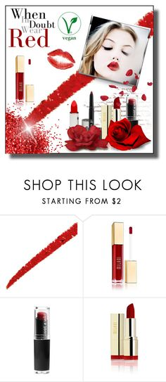 """""""RED LIPS"""" by marielecastan ❤ liked on Polyvore featuring beauty, Gucci, e.l.f., redlips, elfcosmetics, milanicosmetics, wetnwildcosmetics and honeybeegardenscosmetics"""