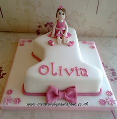 Number  Cake First Birthday Cake Number One Cake Girl First - 1st birthday cake girl
