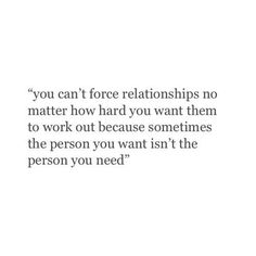 the person you want is not necessarily the person you need