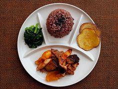 大人様ランチ:金山寺味噌炒め(Set meal)