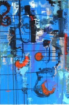 Blue Study. Copyright Jess Barnett, 2012. SOLD.