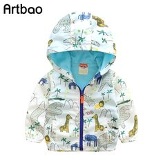 Artbao 2017 New children's hoodies classic animal style summer autumn kids jackets for boys casual boys outerwear & coats CQ06
