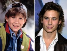 Promotional still of Jonathan Taylor Thomas for 'Home Improvement.'/Jonathan Taylor Thomas at the premiere of 'The Fast and the Furious: Tokyo Drift. Celebrities Then And Now, Young Celebrities, Celebs, Jonathan Taylor Thomas, Home Improvement Tv Show, Young Old, Stars Then And Now, Child Actors, Hollywood Stars